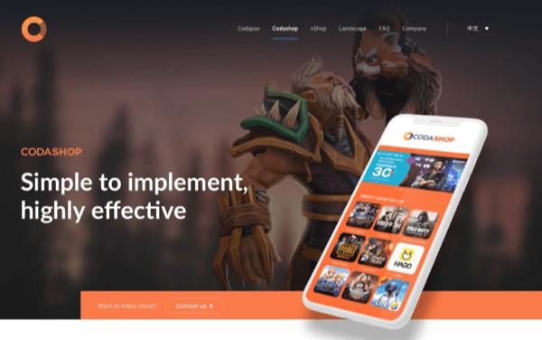 Coda homepage screenshot