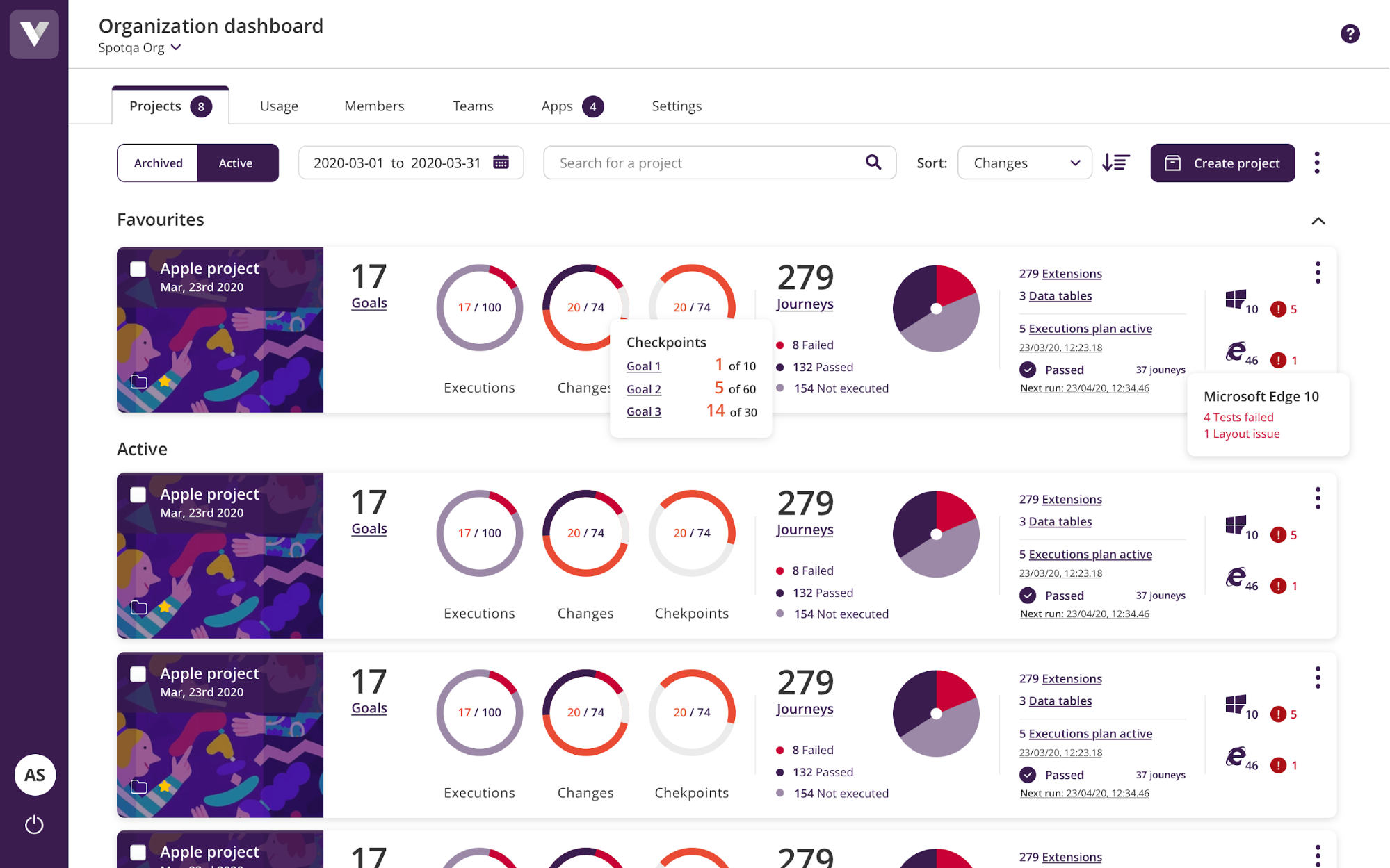An image of the updated Virtuoso dashboard