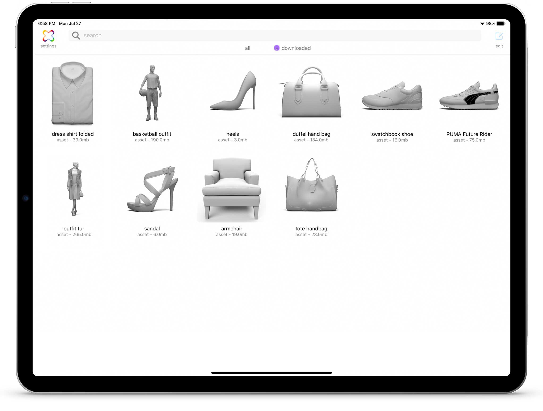 3D Product iPad Mockup