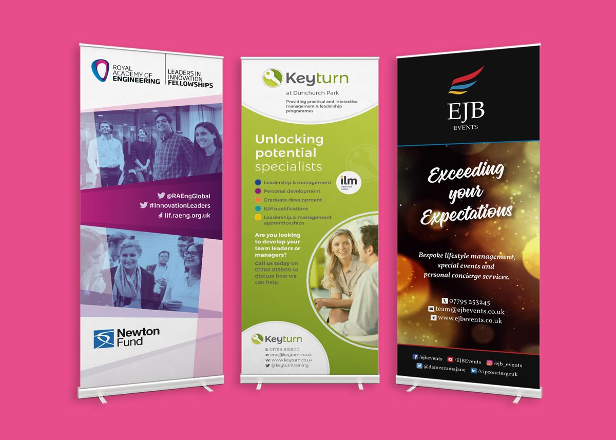 Graphic designer for Banners & Exhibition Materials