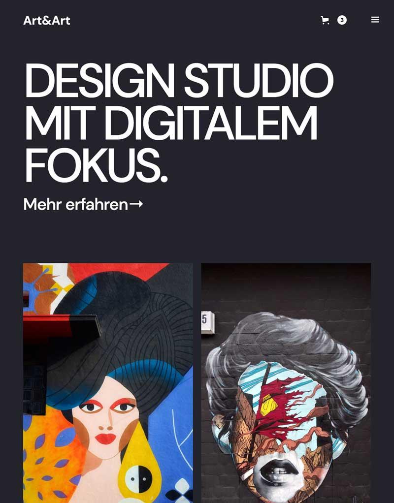 Website-Design Fotografie Poster Onlineshop