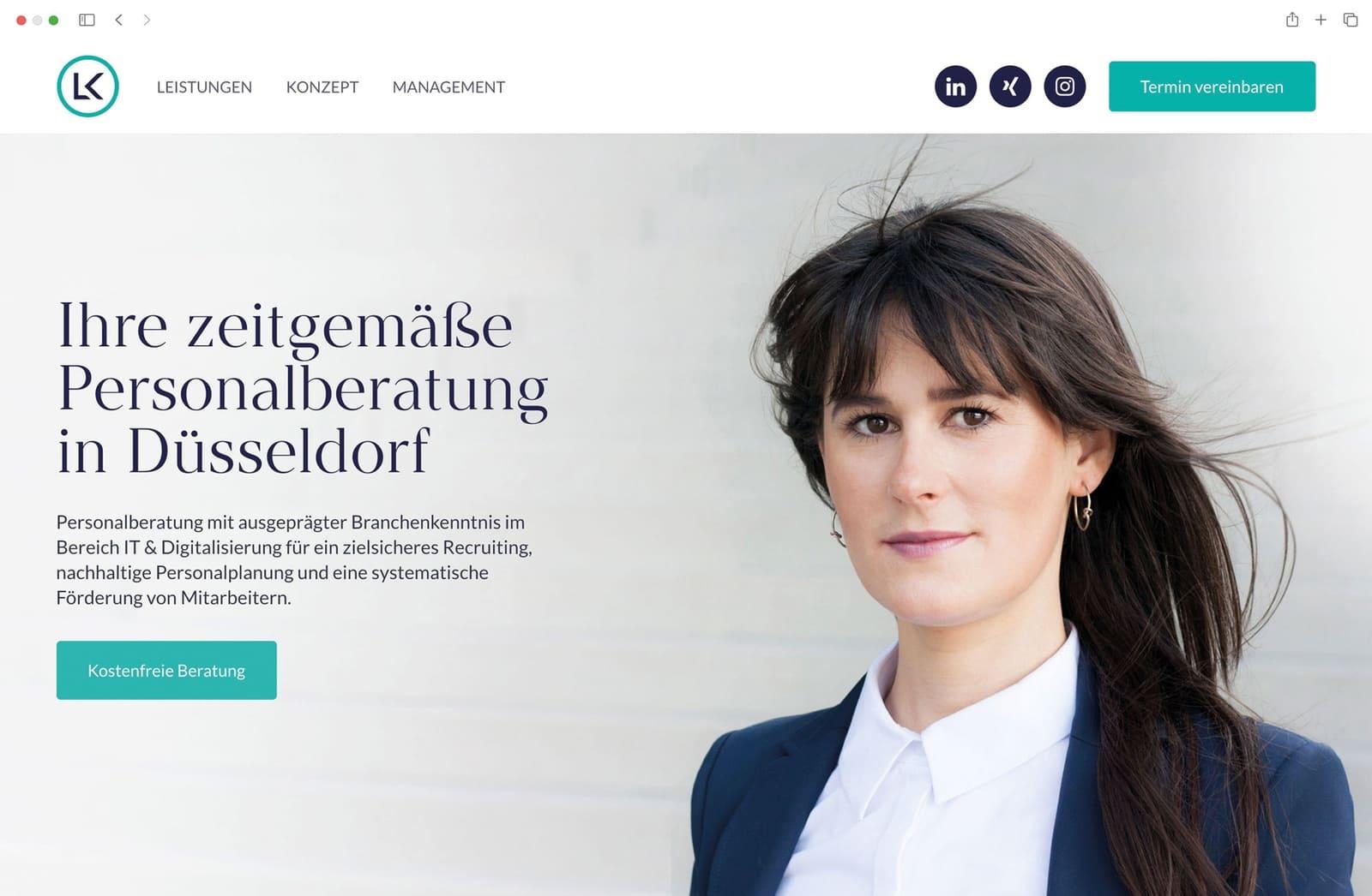 Website Startseite Referenz McWeb Frau Portrait Beraterin