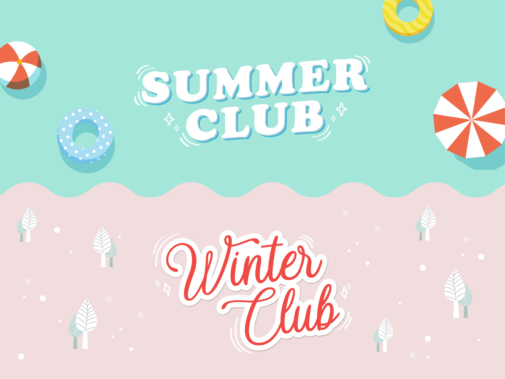 Summer and winter club image