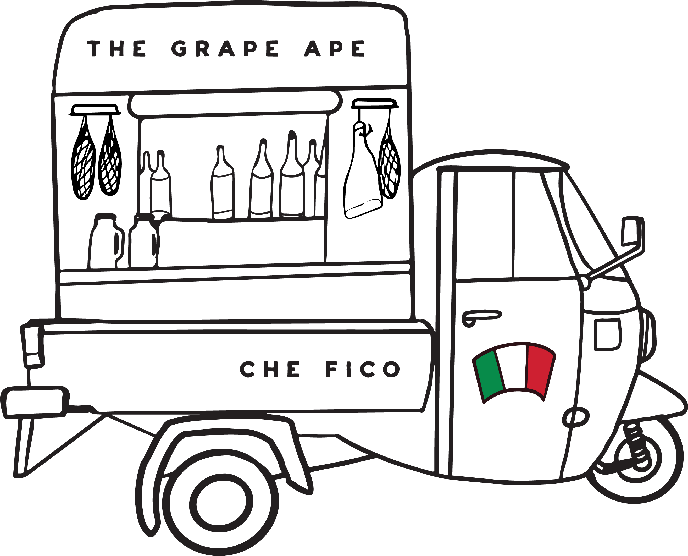 Italian Ape Illustration