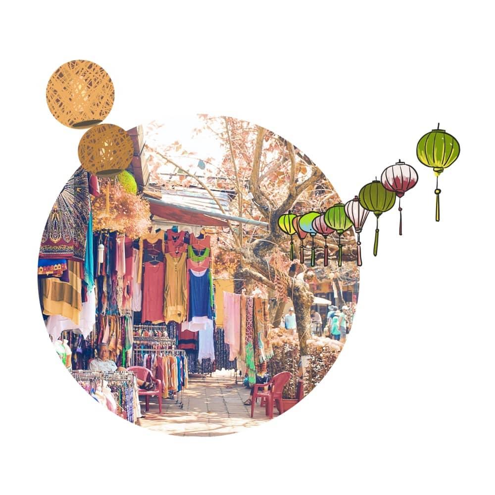 Shopping on Ubud´s street art  markets