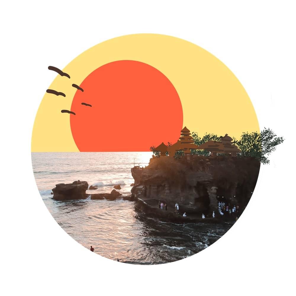 Pura Tana Lot Sunset View Bali