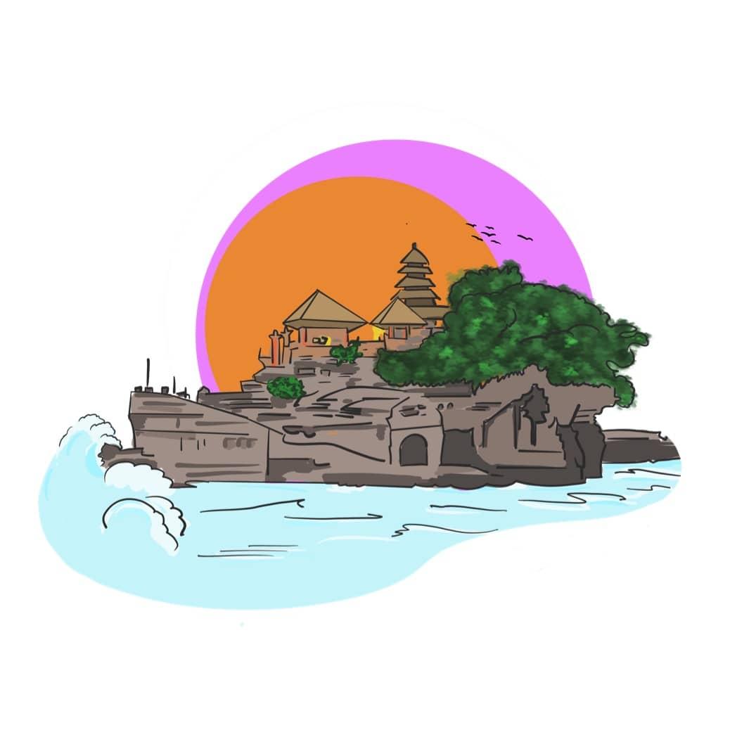 The Most Beautiful Sea Temple on Bali - Pura Tanah Lot