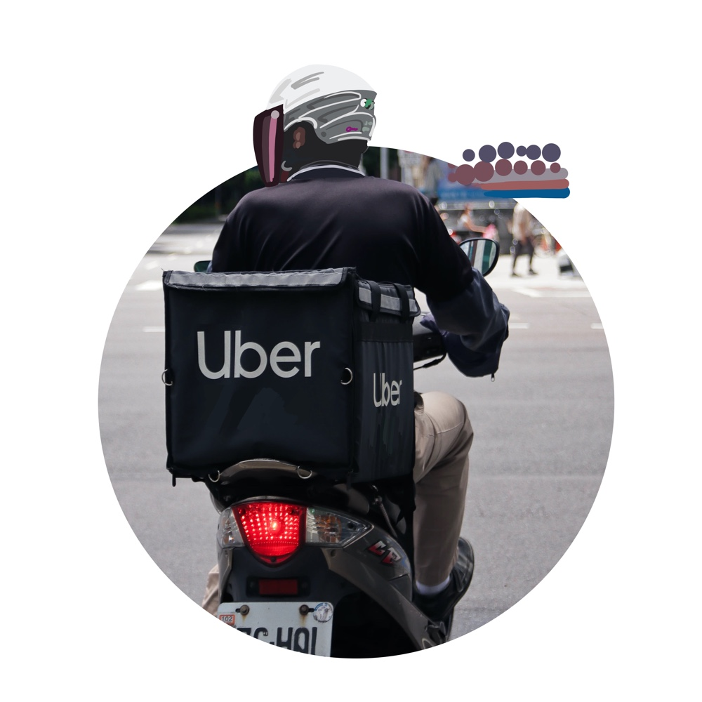 Uber Motorcycle on Bali waiting for tourists