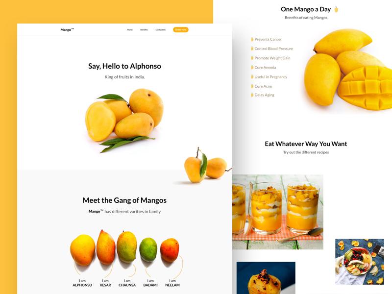 Mango TM Landing Page