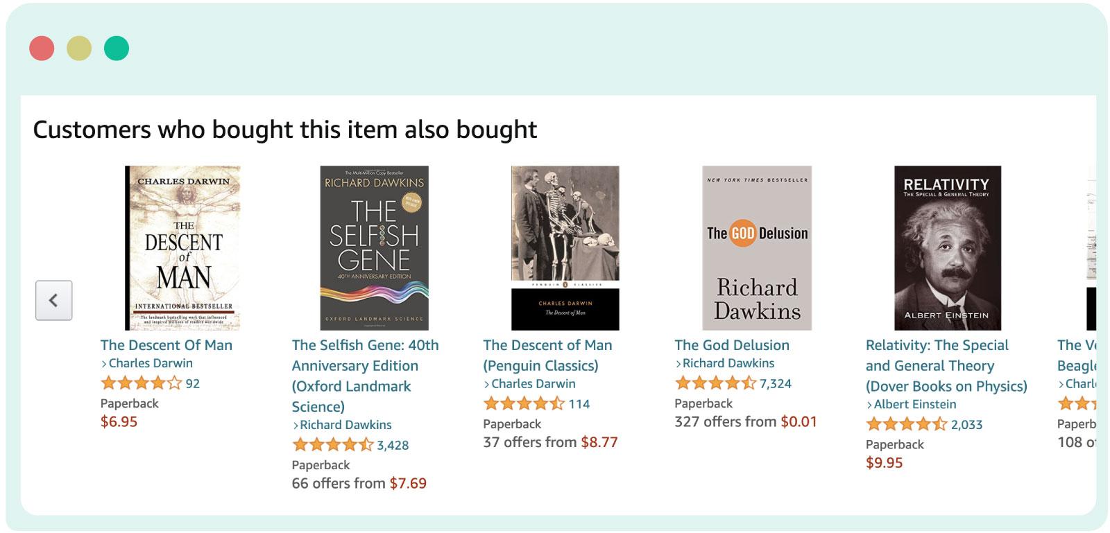 Amazon product reccomendations