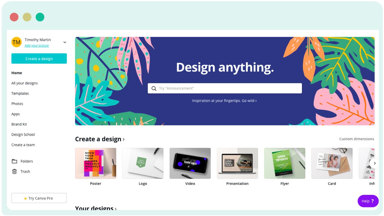 Canva for content design