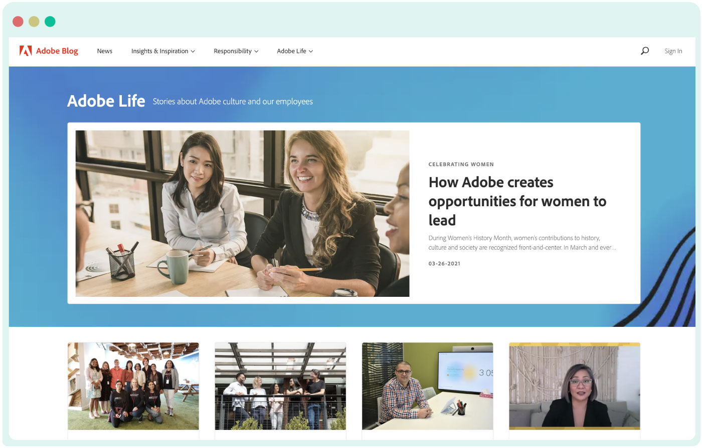 A day in the Adobe life blog