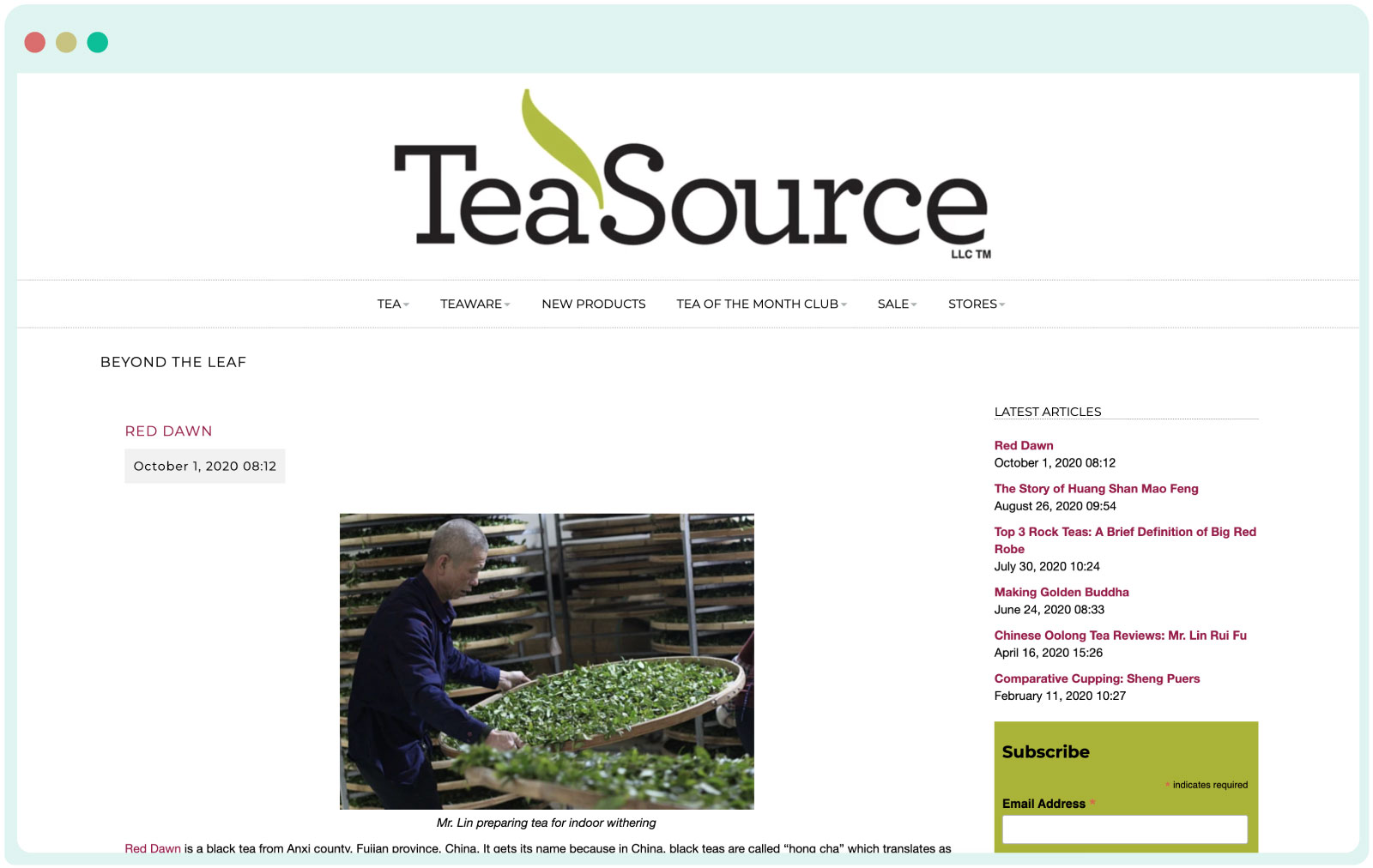Tea Source blog