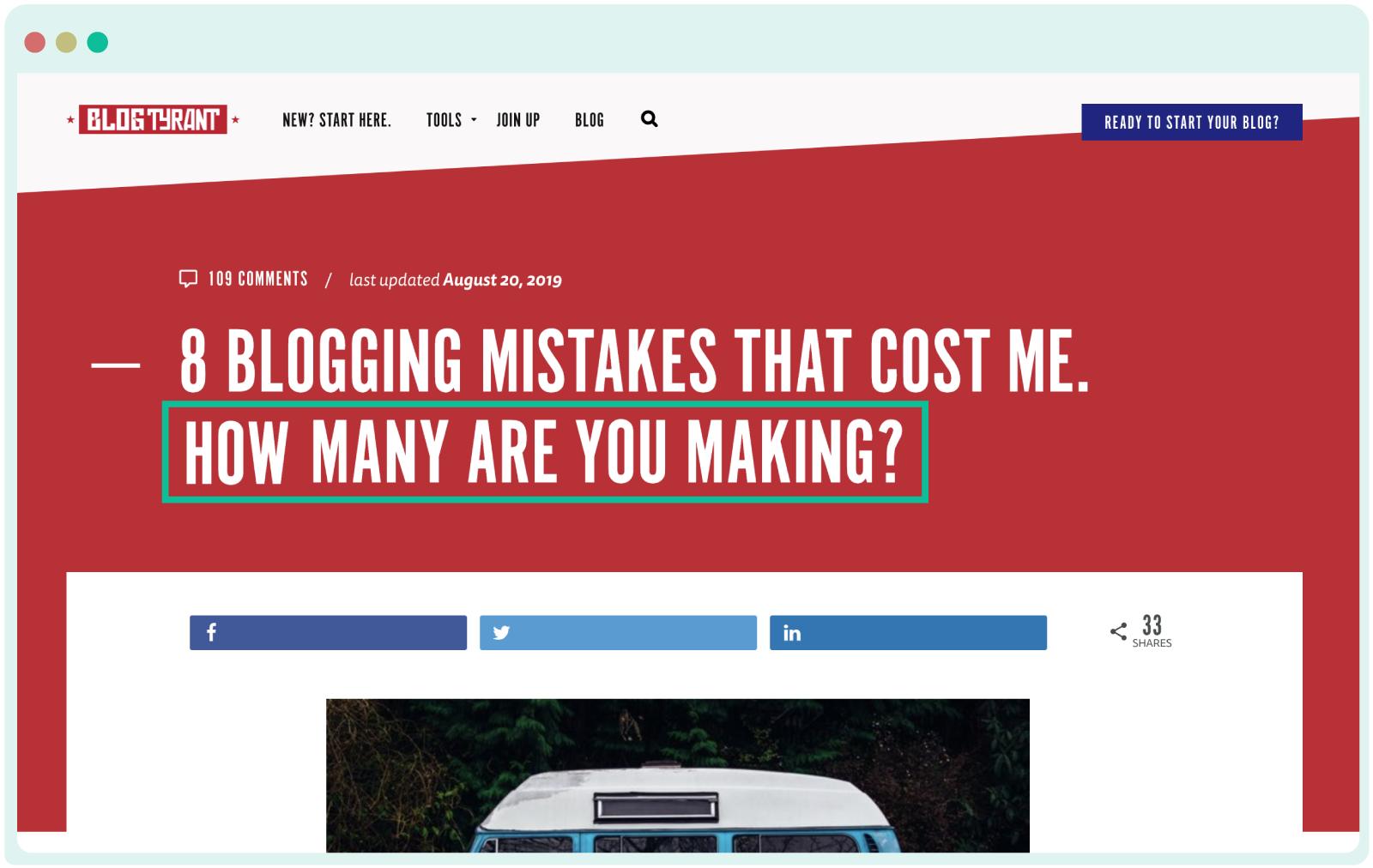 BlogTyrant blog healines