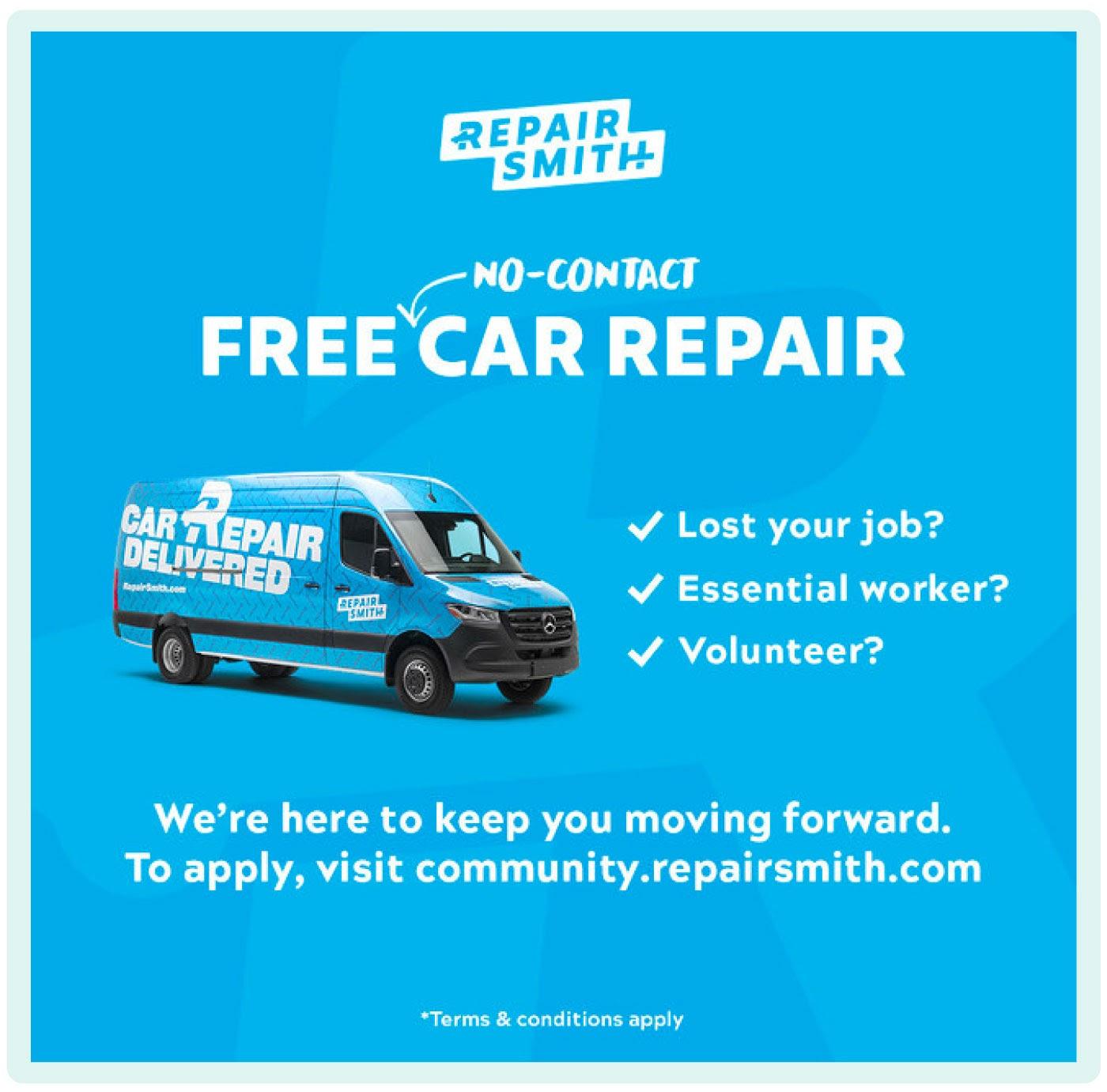 RepairSmith free car repair service during the pandemic