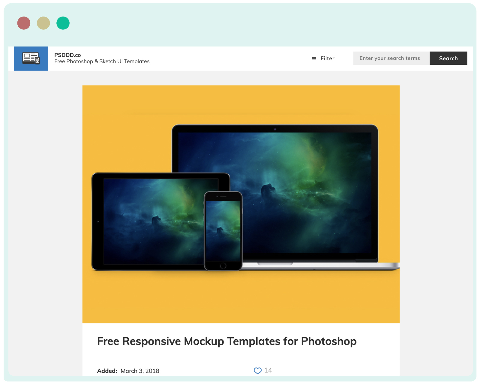 PSDDD- free Photoshop PSD and Sketch App resources for professional UI designers