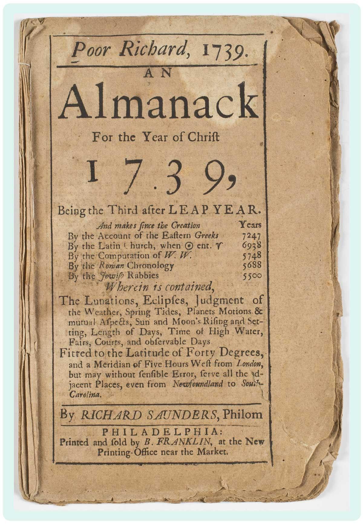 Poor Richard Almanack
