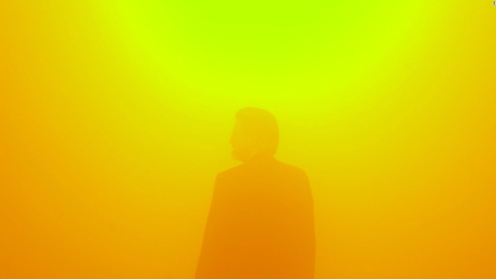 Man standing in front of a haze
