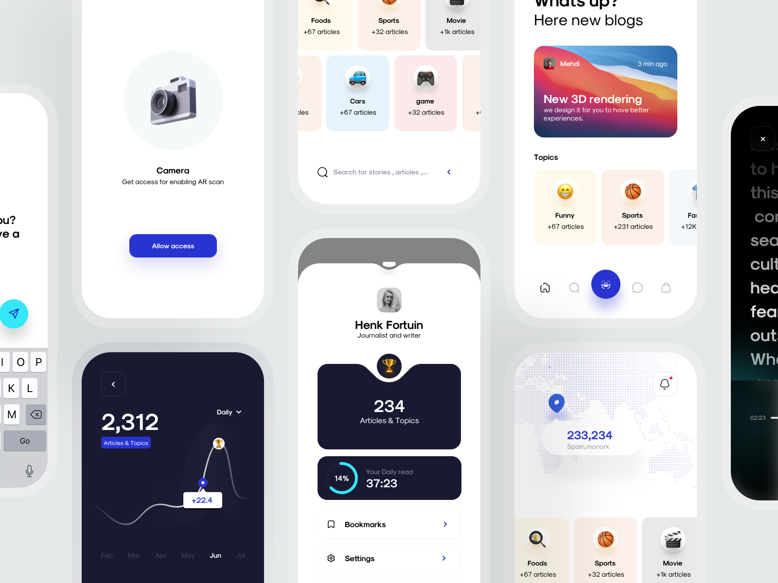 Sample designs for an app concept