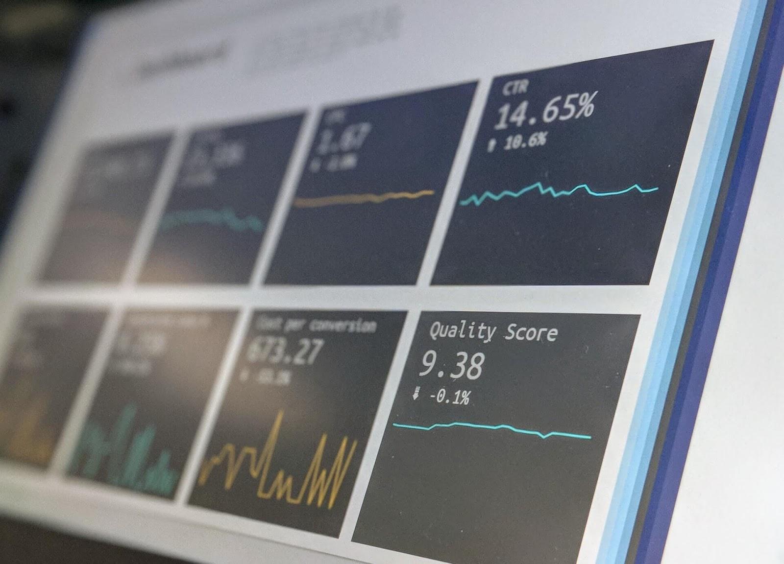 seo metrics on laptop screen