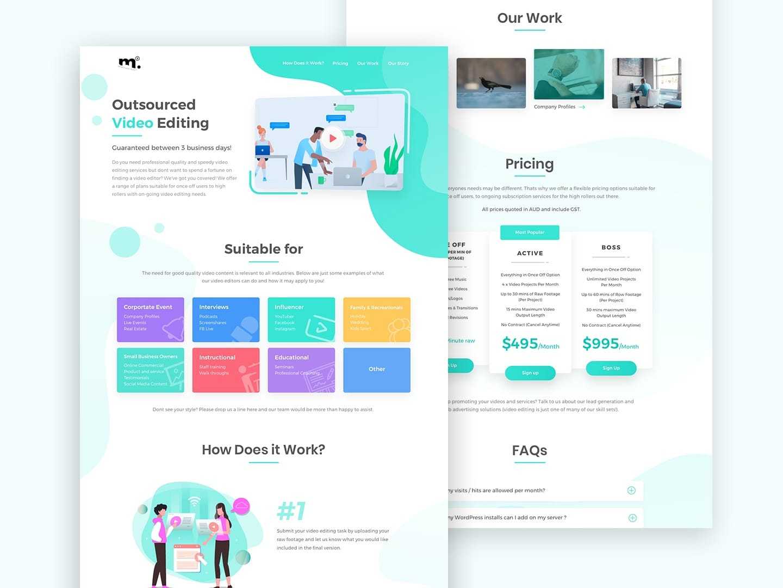 Unlimited Web Design 8 Portfolios Pricing
