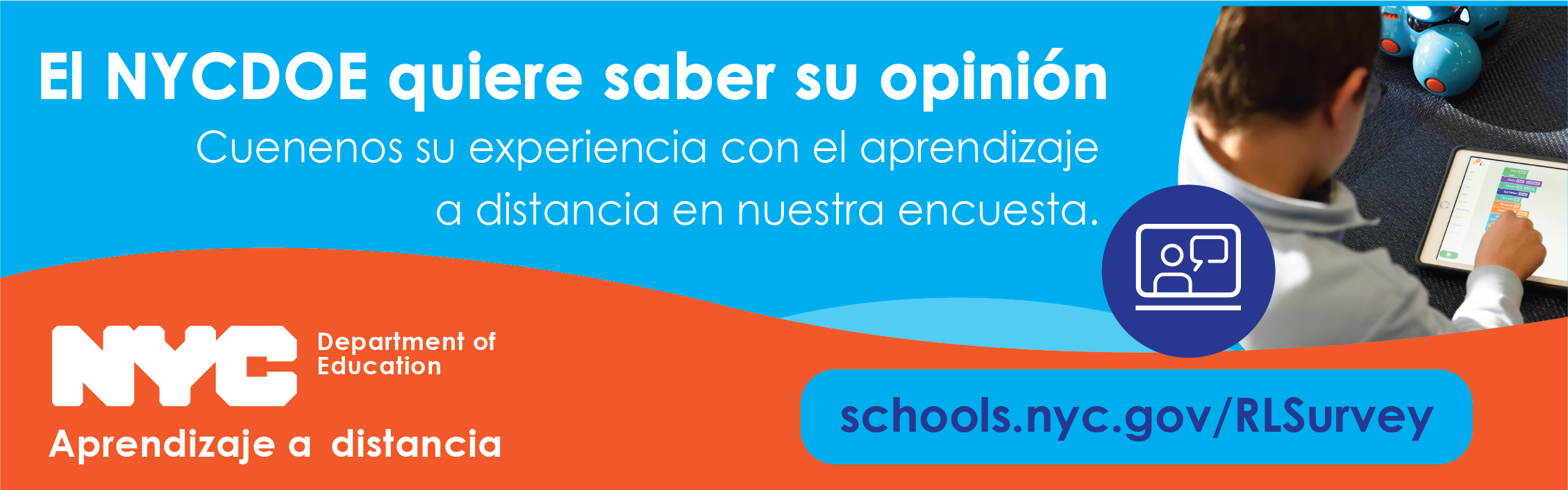 same as above NYC DOE remote learning link but with spanish text