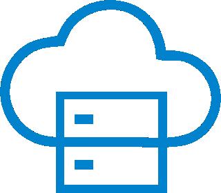 ícone cloud computing. computação na nuvem para tecnologia da informação. dados e armazenamento na nuvem.