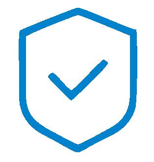 ícone segurança de dados e informação. Firewall de alto desempenho , multiplas camadas de proteção.