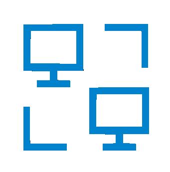 ícone virtualização de redes e desktops