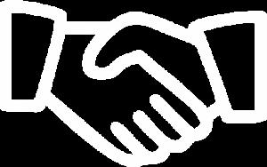 ícone aperto de mão parceiros clientes