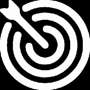 ícone objetividade do negócio - alvo com flecha