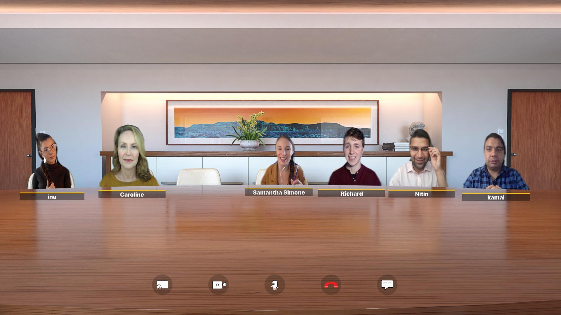 Custom designed virtual meeting rooms, Custom designed video conferencing room, Merimeet custom virtual meeting rooms, merimeet virtual conferencing room, merimeet auditorium virtual conferencing room, Club themed virtual conferencing room