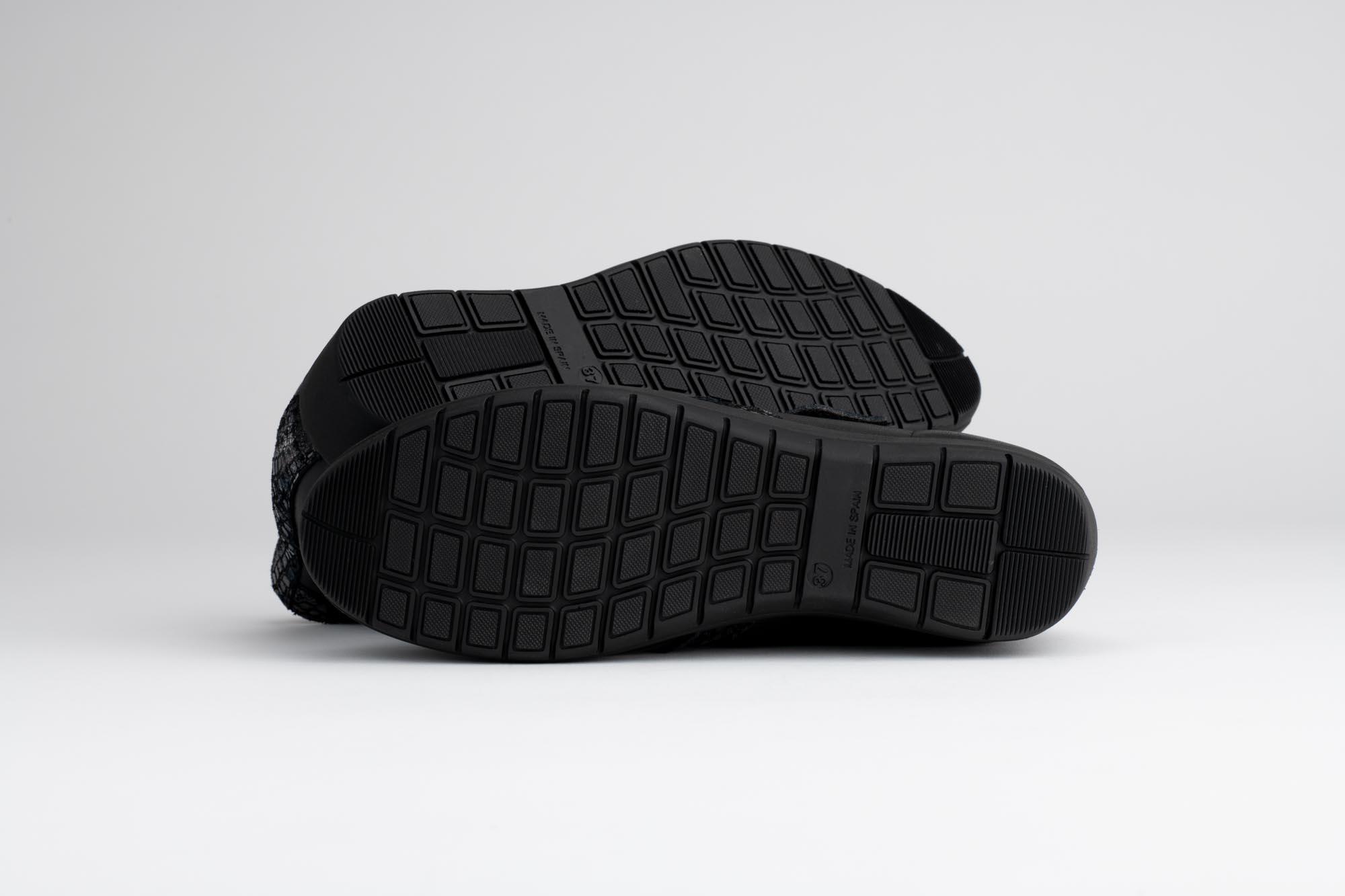 sesión de fotos de estudio de suelas de zapatos