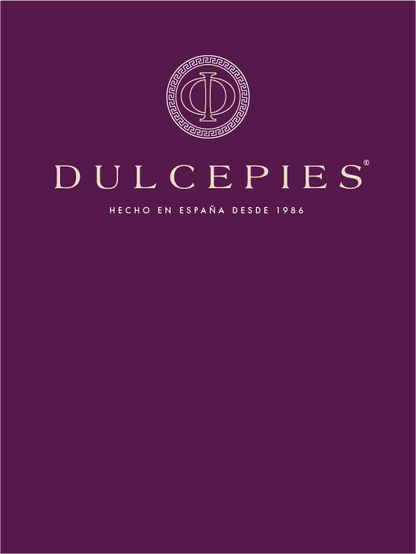 logo de Dulcepies sobre fondo morado