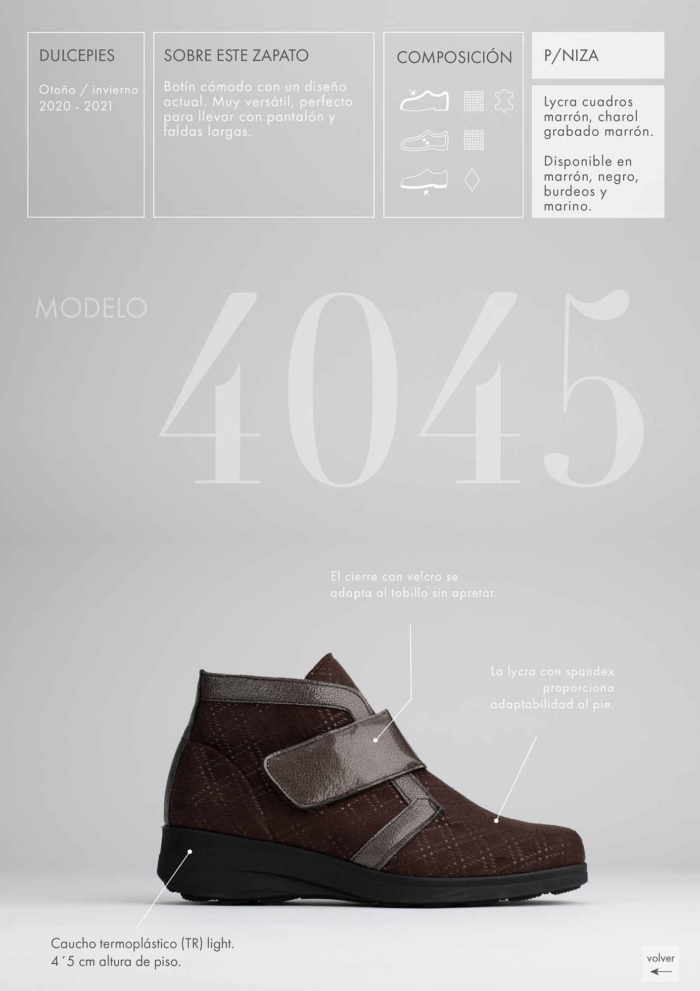 foto lateral de bota en catálogo de zapatos