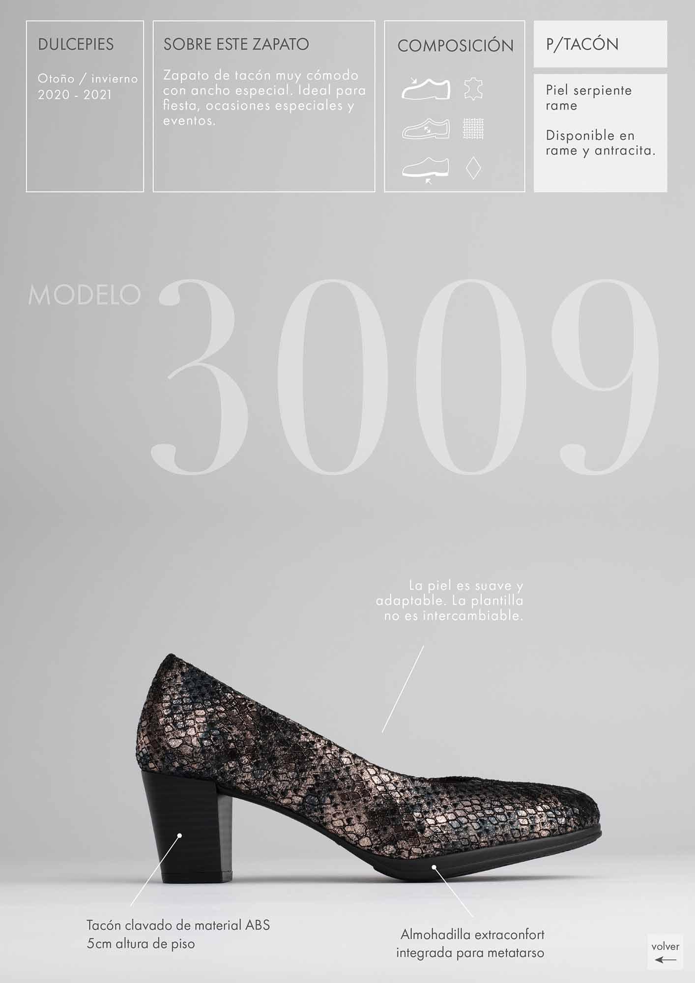 foto lateral de zapato tacón en catálogo