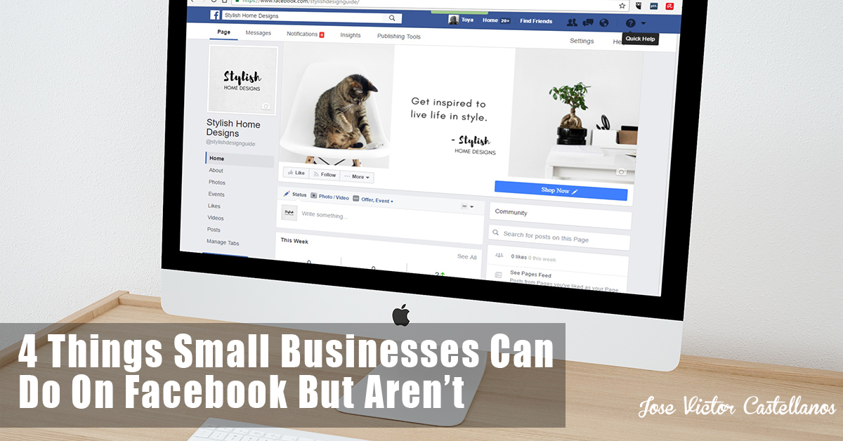 Things Small Business Can Do On Facebook