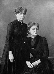 Marie (left) & Her Sister Bronislawa (right)