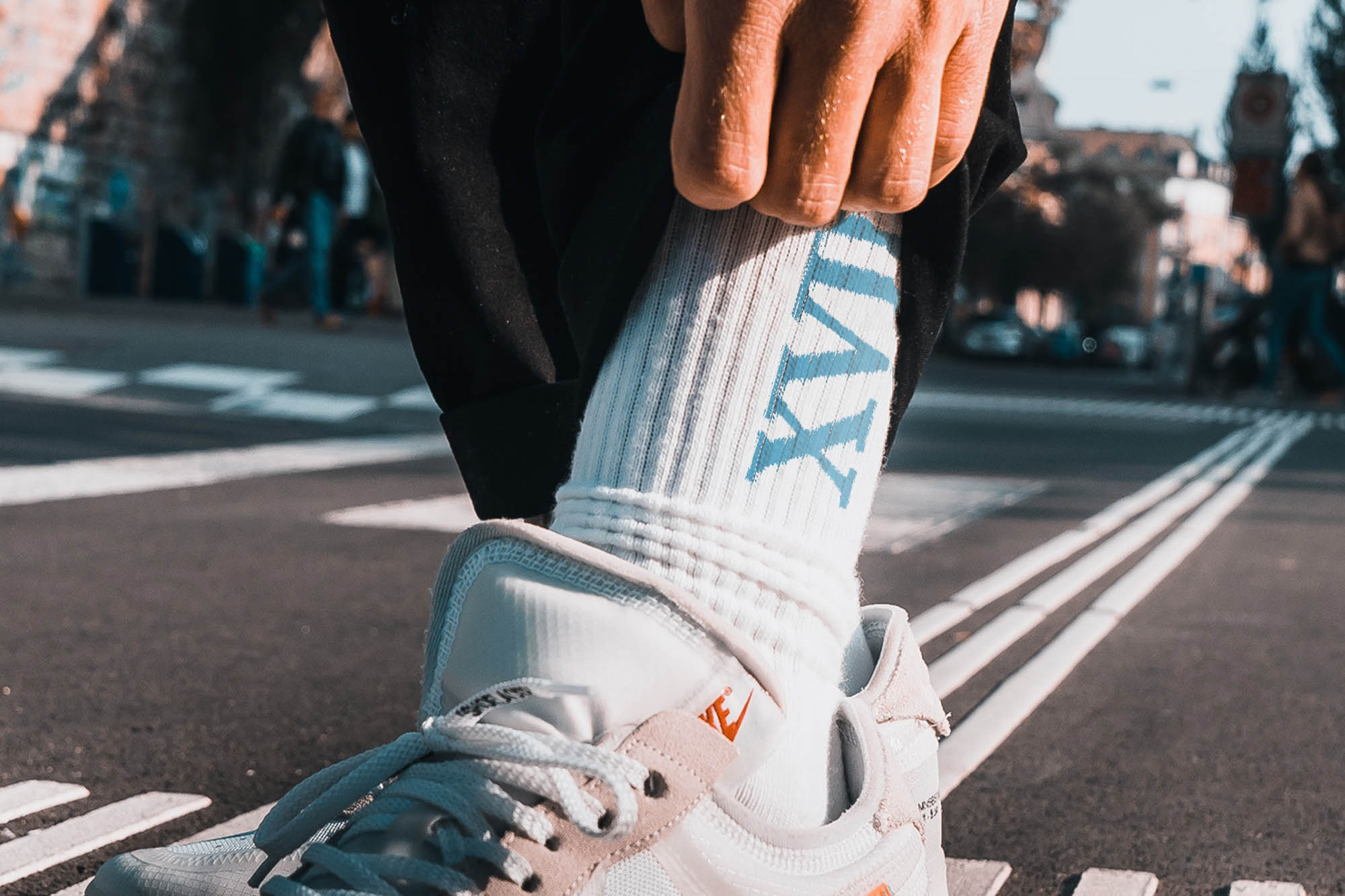 XVII Knit White Sock