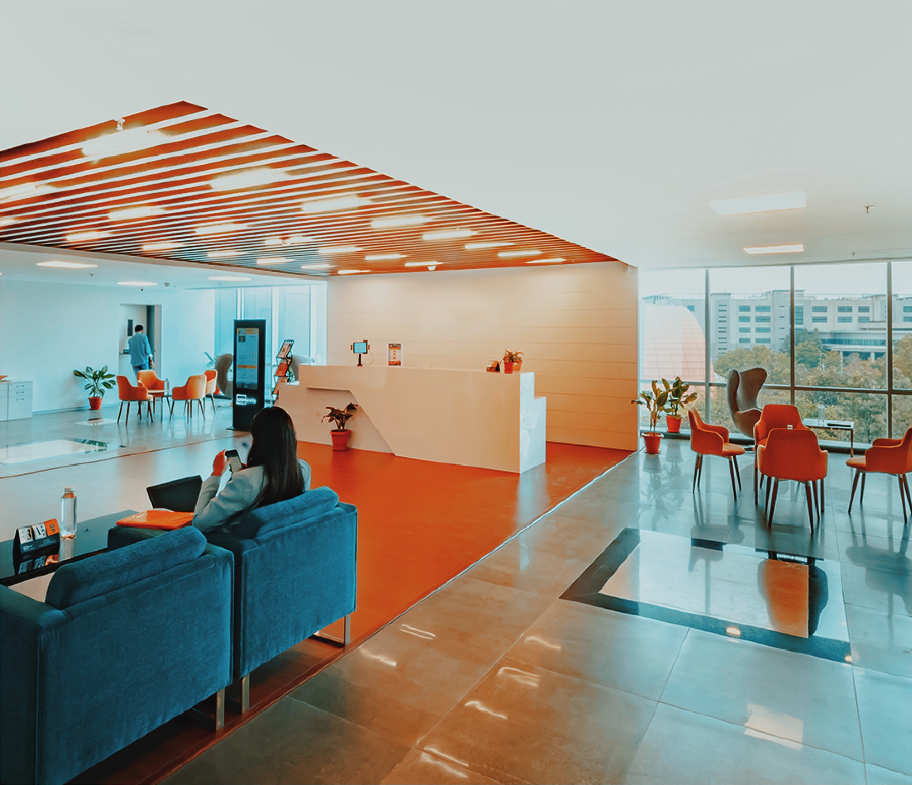 Colourful Futuristic Office Cubicles and Breakout Areas