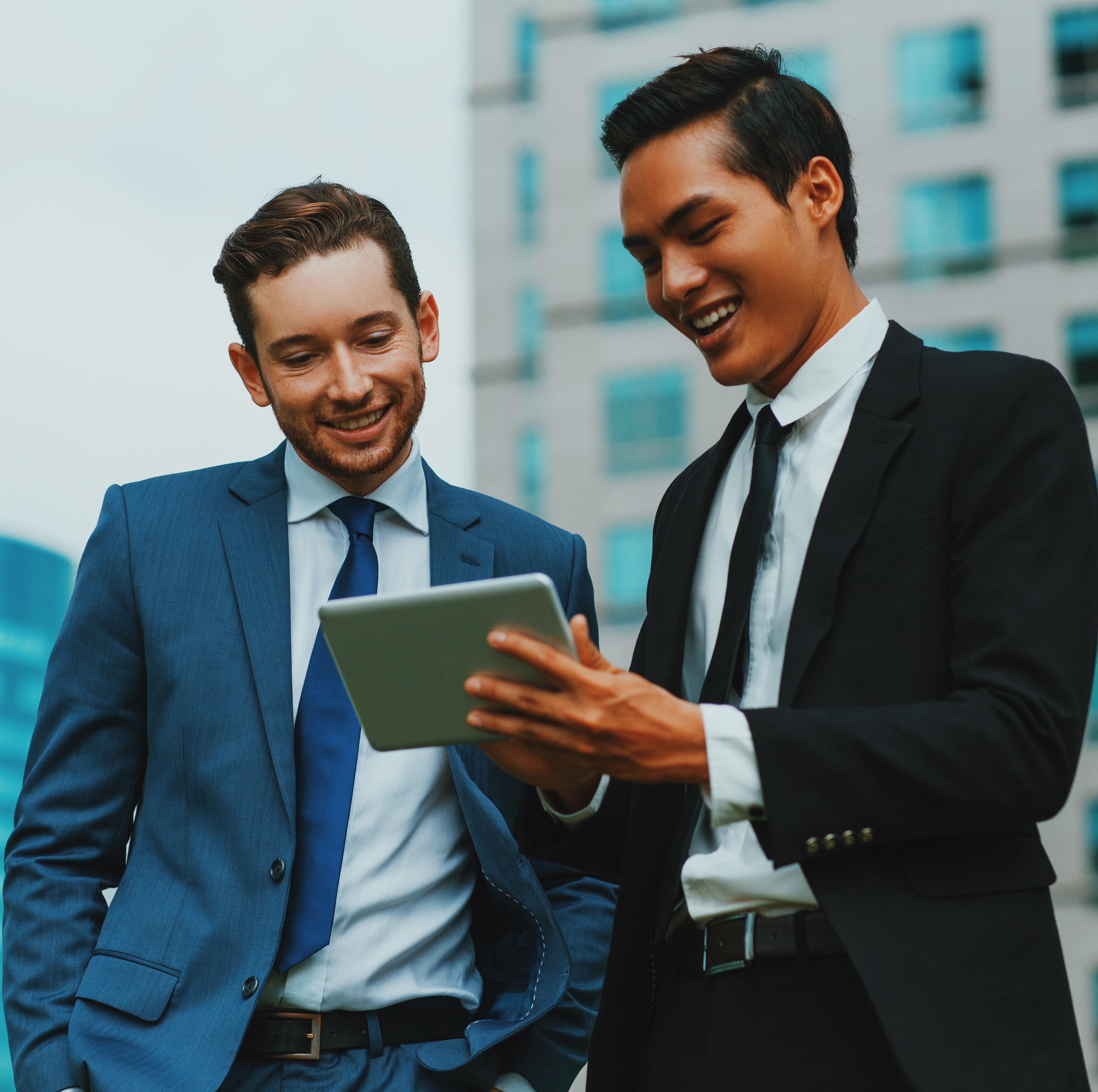 Professional Business Men Discussing