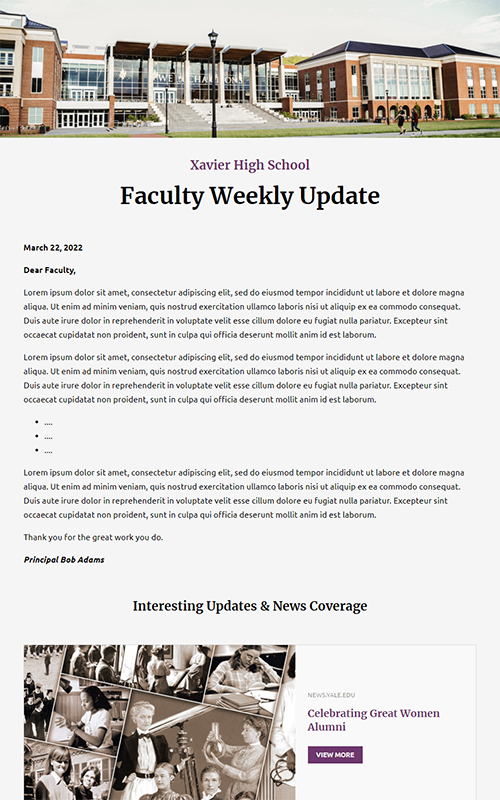 preview of a updates to faculty template