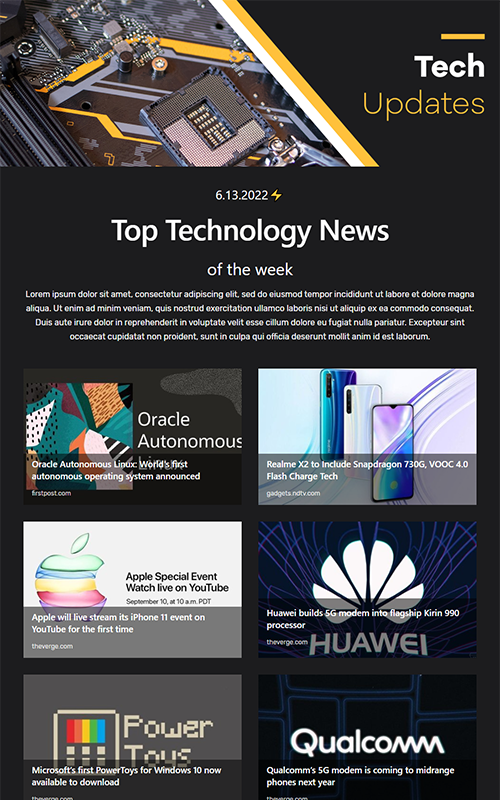 Preview of technology news template