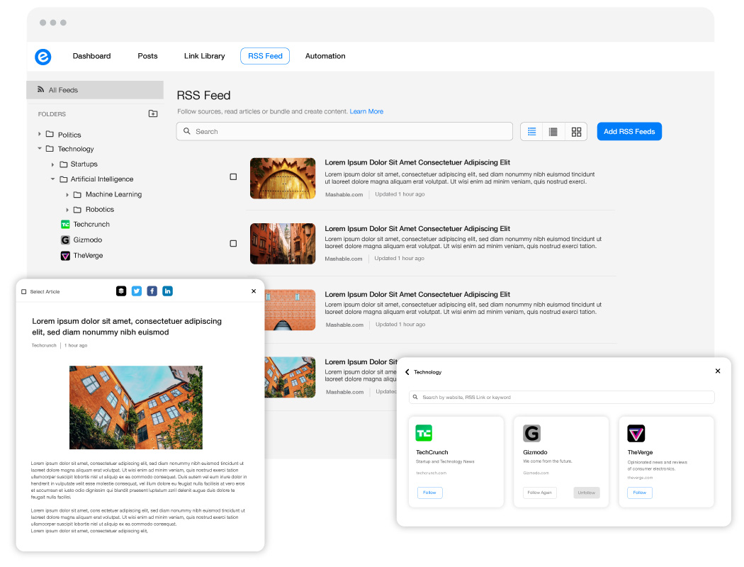 Publish Curated Content Anywhere