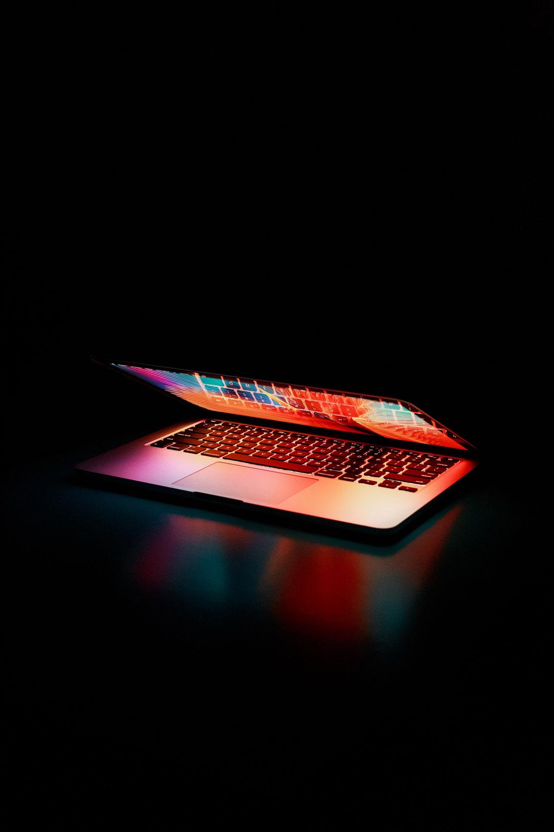 Laptop mid opened