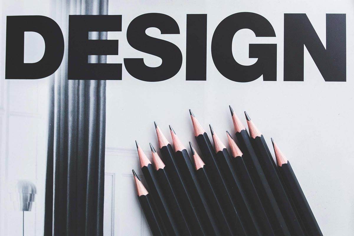design with pencils