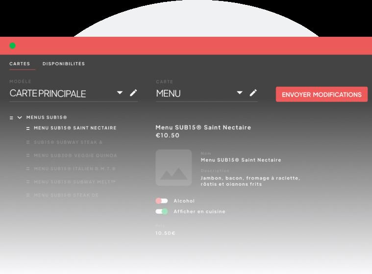 Ajustez simplement les paramètres de votre menu grâce au Menu Manager