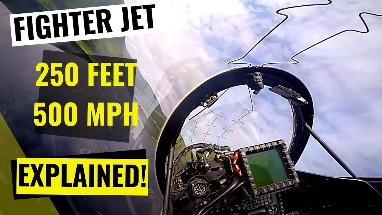 Low Level IN COCKPIT - EXPLAINED by the RAF Instructor Pilot