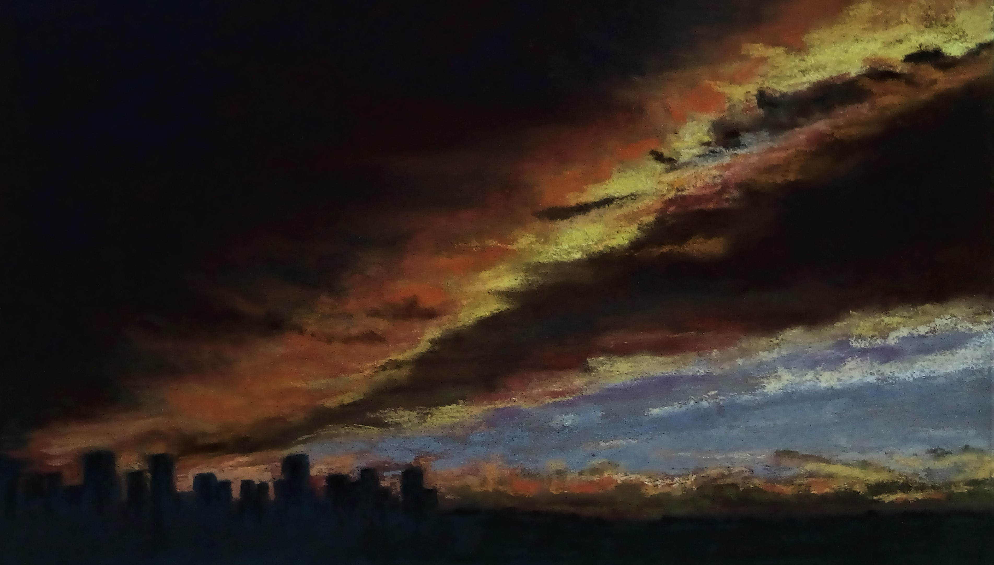 City Skyline Under a Prairie Sky