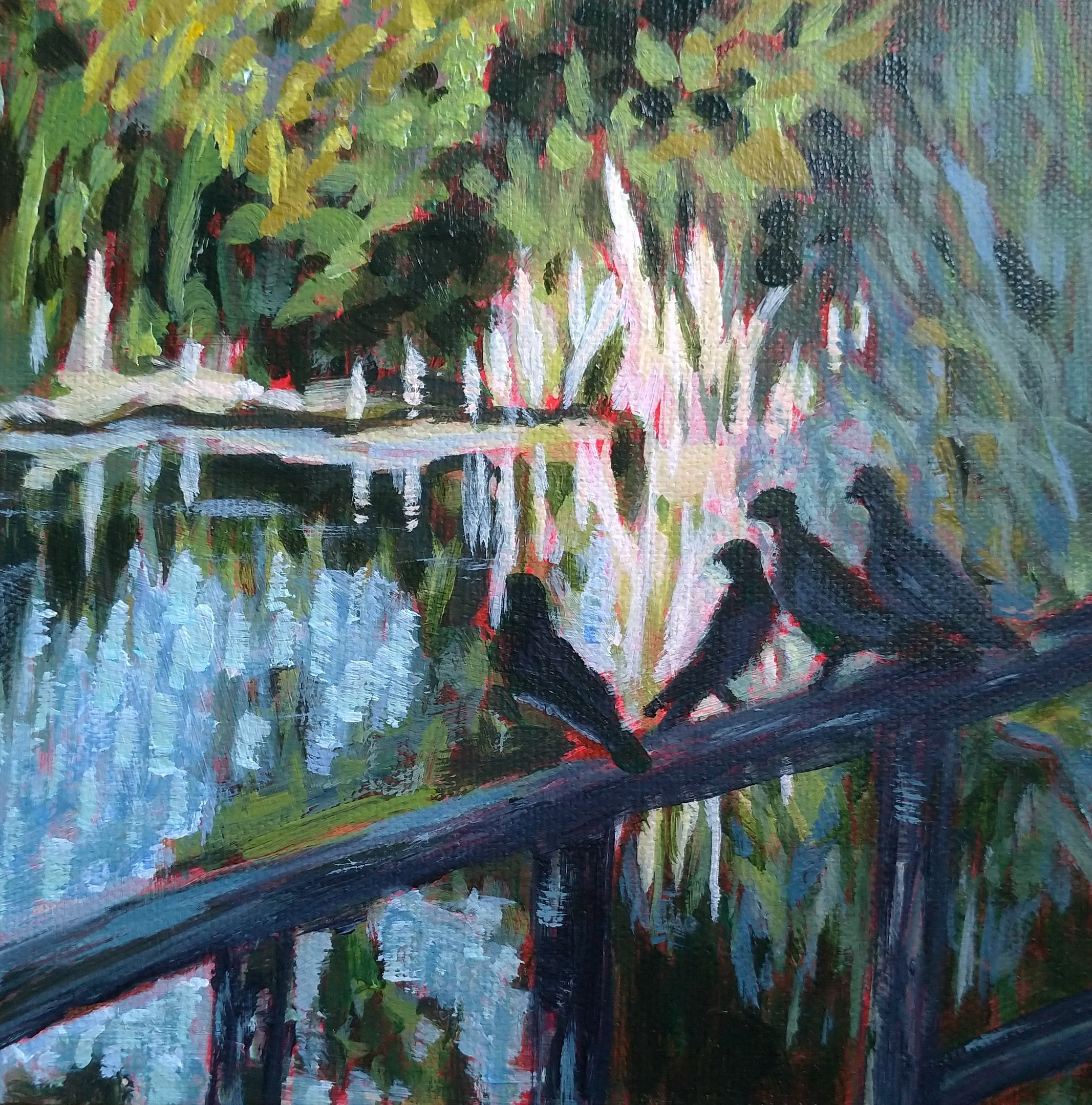 Evening Chat (Sold)
